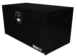 Buyers Products Co. Black Steel Underbody Toolbox with 3-Point Latch